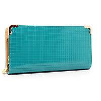 Голубая женская вечерняя сумка-клатч 836-1 лаковая выпускная на цепочке, фото 1