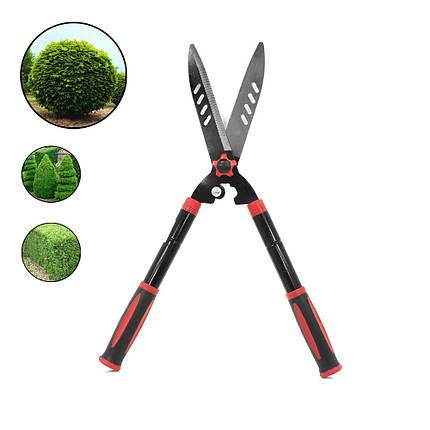 Ножницы DingKe 740 мм для подрезки живой изгороди садовые кусторез из стали, фото 2