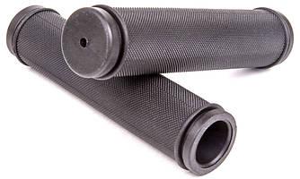 Ручки вело керма (гріпси) гумові 128 мм, чорні