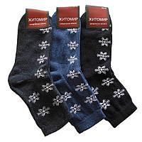 Женские махровые носки Житомир - 11,50 грн./пара (Снежинки), фото 1