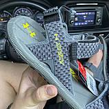 Чоловічі сандалі Under Armour Sandals Fattire x Michelin Green Gray., фото 5