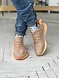 Чоловічі і жіночі кросівки сітка Adidas Yeezy 350 v2, фото 5