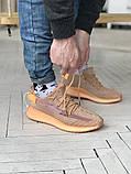 Чоловічі і жіночі кросівки сітка Adidas Yeezy 350 v2, фото 6