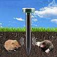 """Ультразвуковий відлякувач кротів, гризунів: мишей та ін., на сонячних батареях """"Garden Pro"""" (кругле навершя), фото 5"""