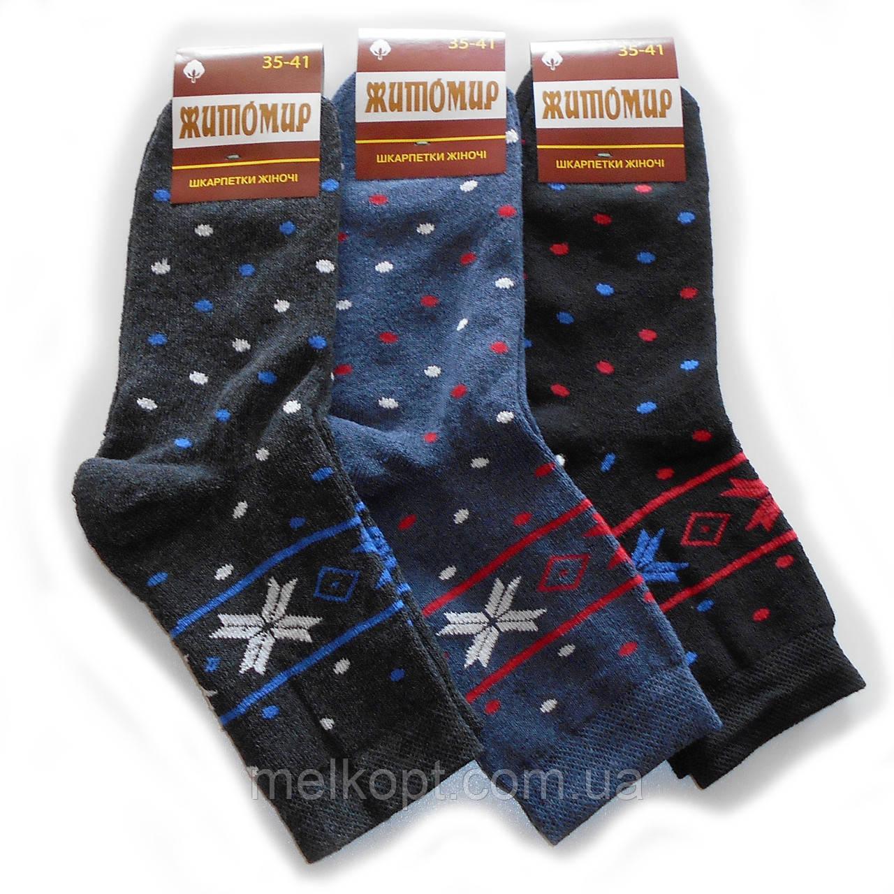 Женские махровые носки Житомир - 11,50 грн./пара (горошек)