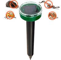 """Ультразвуковий відлякувач кротів, гризунів: мишей та ін., на сонячних батареях """"Garden Pro"""" (кругле навершя)"""