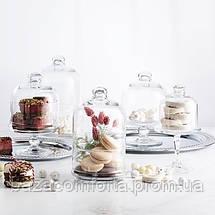 Бонбоньерка и стеклянный Колпак Клош 196мм Patisserie 96701 (1шт), фото 2