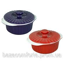 Каструля керамічна Kamille для запікання 1.5 л з кришкою