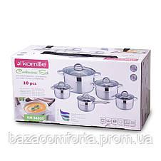 Набор посуды Kamille из нержавеющей стали 10 предметов, фото 2