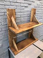 Полка деревянная, декоративная для книг