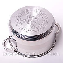 Набор посуды Kamille (кастрюля + дуршлаг) из нержавеющей стали 3 предмета, фото 2