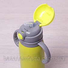 Термобутылка детская Kamille 450мл из нержавеющей стали, фото 3