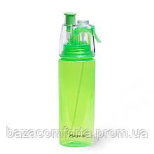 Спортивна пляшка для води Kamille 570мл з пластику (тритан) (зелений, блакитний)