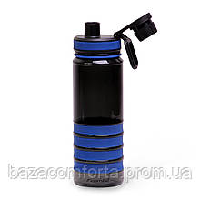 Спортивна пляшка для води Kamille 750мл з пластику (тритан) (чорно-синій)