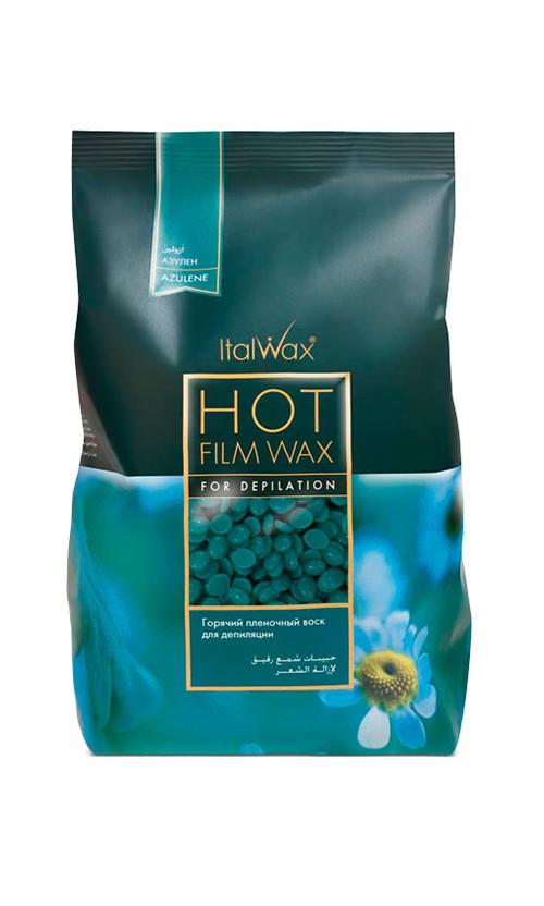 ItalWax Горячий пленочный воск в гранулах Азулен Hot Film Wax For Depilation Azulene