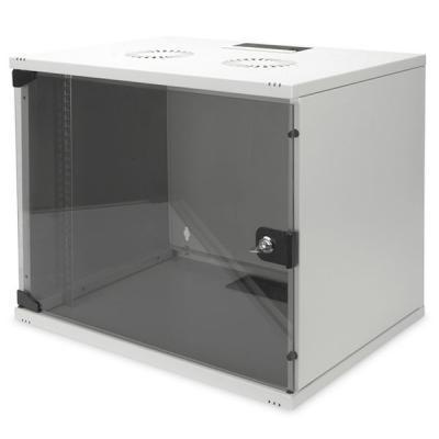 """Шкаф настенный DIGITUS 9U 19"""" 540x400, стекляные двери, 60kg max (DN-1909-U-S-1)"""