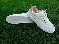 Женские белые кеды, экокожа 36-41 р