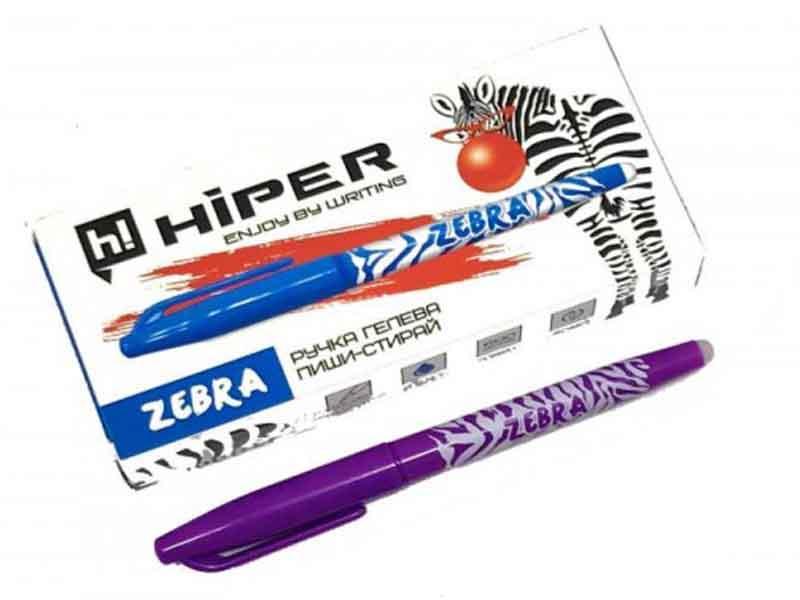 Ручкa пиши-стирай Hiper Zebra HG-220 синяя 10шт