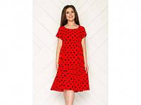 Сукня червона в горох арт.1124 р.52 ТМMio Karo (код 1125618)