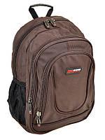 Коричневый спортивный рюкзак 8824 из нейлона, фото 1