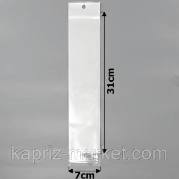 Пакеты упаковочные 7х31см целлофановые с белым фоном