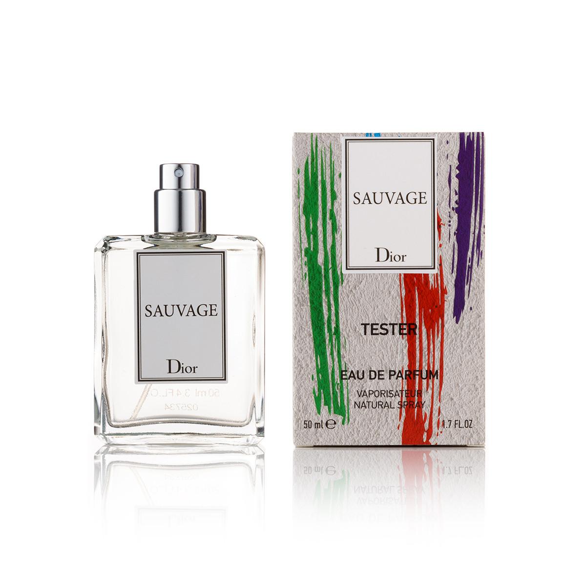 50 мл міні парфум тестер Sauvage - (М) (new)