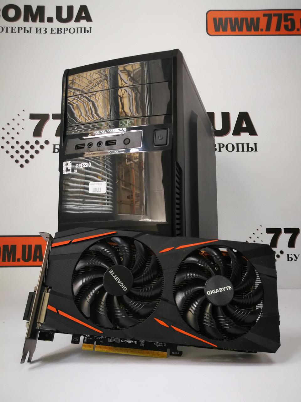 Игровой компьютер EuroCom, Intel Core i3-4160 3.6GHz, RAM 8ГБ, SSD 120ГБ, HDD 500ГБ, Radeon RX 570 4GB