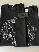 Парные футболки для парня та девушки . Футболки с принтом с собствиним принтом для пар