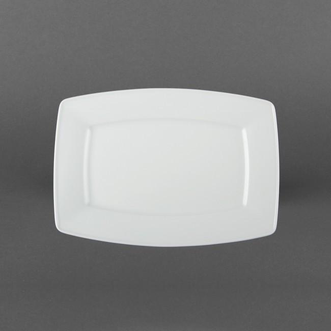 Тарелка-блюдо прямоугольное белое фарфоровое Lubiana Victoria 280мм.