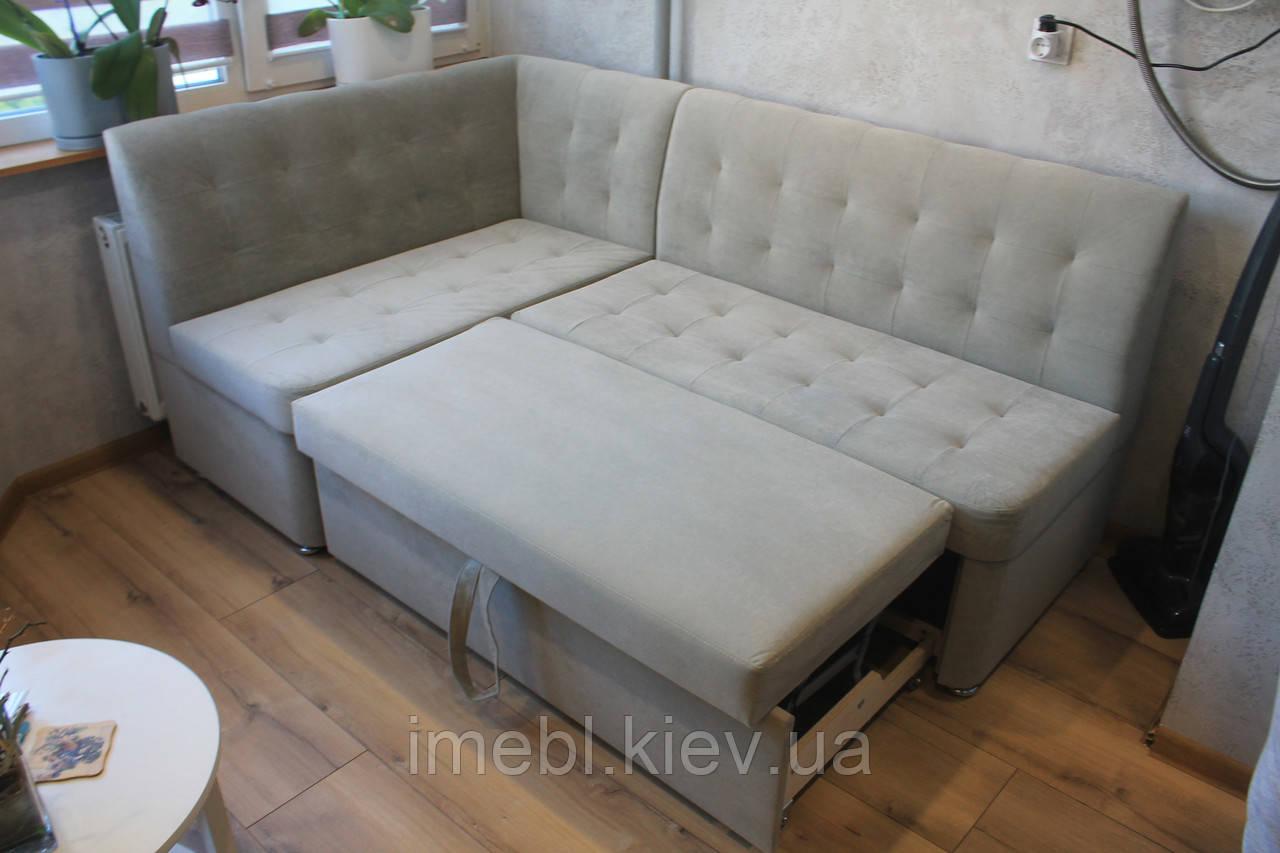 Раскладной кухонный уголок со спальным местом(Светло-серый )