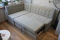 Раскладной кухонный уголок со спальным местом(Светло-серый ), фото 1