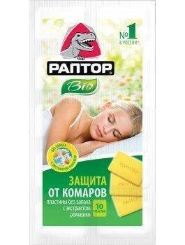 Пластины от комаров Raptor 10 шт/уп, фото 2