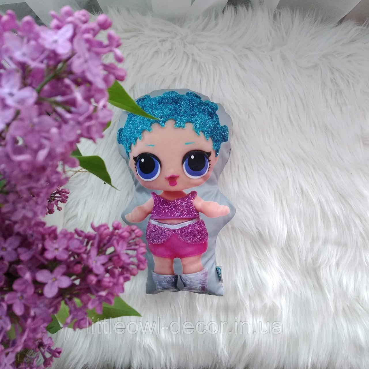 Подушка кукла Лолита бирюза 30см