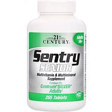 """Вітаміни і мінерали, 21st Century """"Sentry Senior"""" для людей від 50 років (265 таблеток)"""