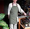 Фартук официанта флориста продавца из ткани саржа хлопок лен