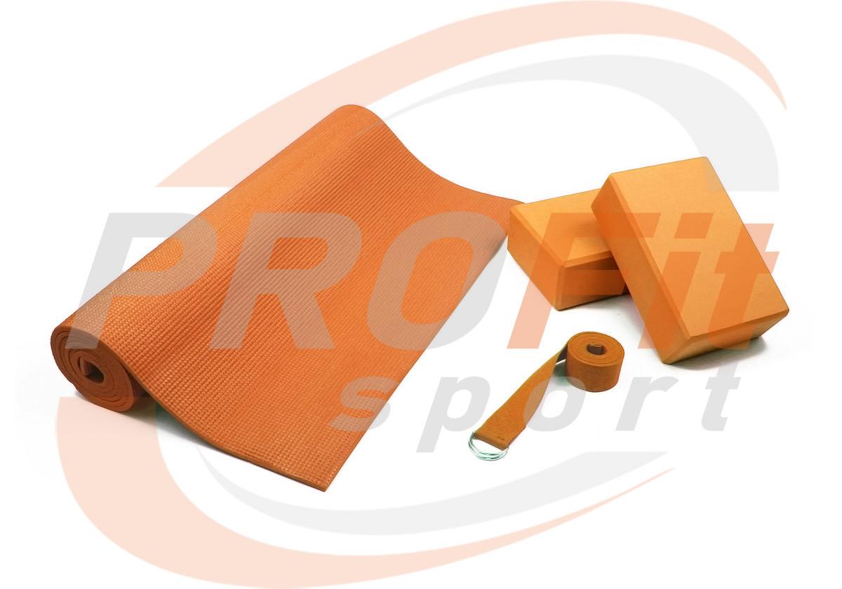 Набор для йоги Yoga Set YS-2 (коврик, 2 блока + ремень)