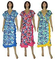 NEW! Женские летние трикотажные халаты больших размеров - серия Oborka Batal ТМ УКРТРИКОТАЖ!