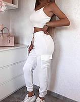 Жіночі штани літні з шовку в кольорах, фото 5