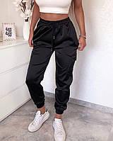 Жіночі штани літні з шовку в кольорах, фото 6