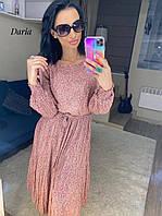 Шифоновое летнее женское платье с плиссировкой Daria