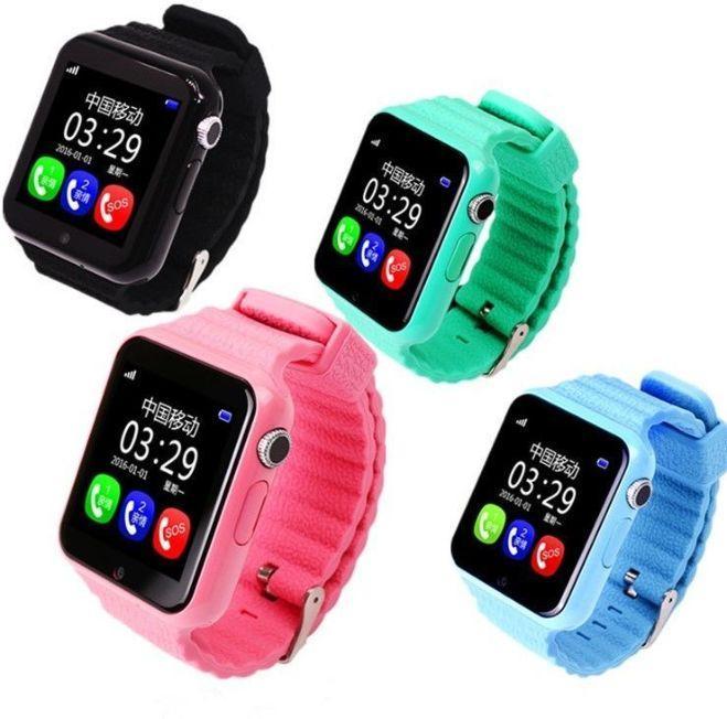 Детские умные смарт часы-телефон с GPS Baby Smart Watch V7 / Часы-телефон