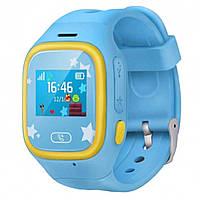 Детские Оригинальные GPS часы-телефон JETIX Tiny 2 Kid с виброзвонком (Blue)
