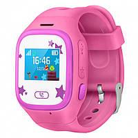 Детские Оригинальные GPS часы-телефон JETIX Tiny 2 Kid с виброзвонком (Pink)