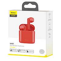 Беспроводные наушники BASEUS Encok W09 TWS Wireless Красные