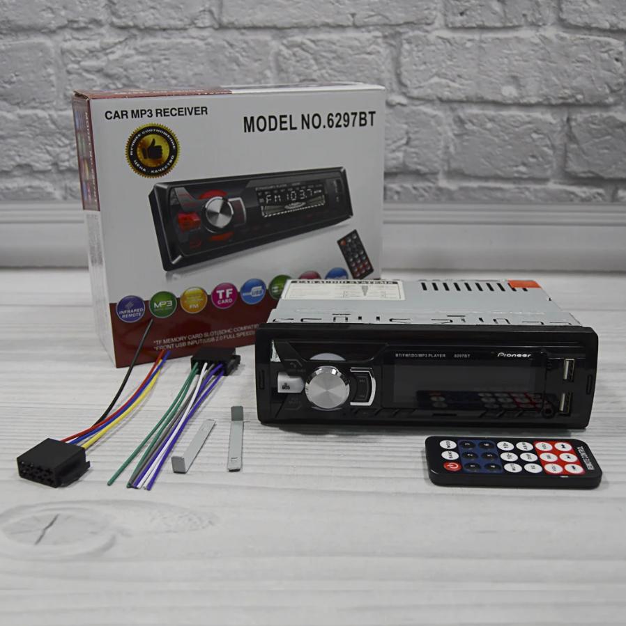 Автомагнитола 1DIN MP3 6297BT (1USB, 2USB-зарядка, TF card, bluetooth)