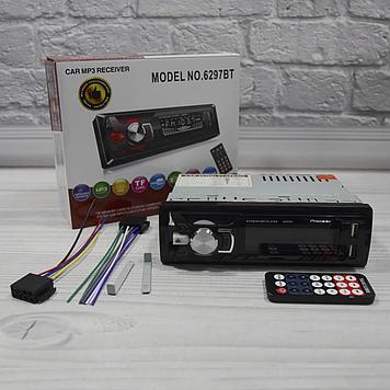 Автомагнітола 1DIN MP3 6297BT (1USB, 2USB-зарядка, TF card, bluetooth)