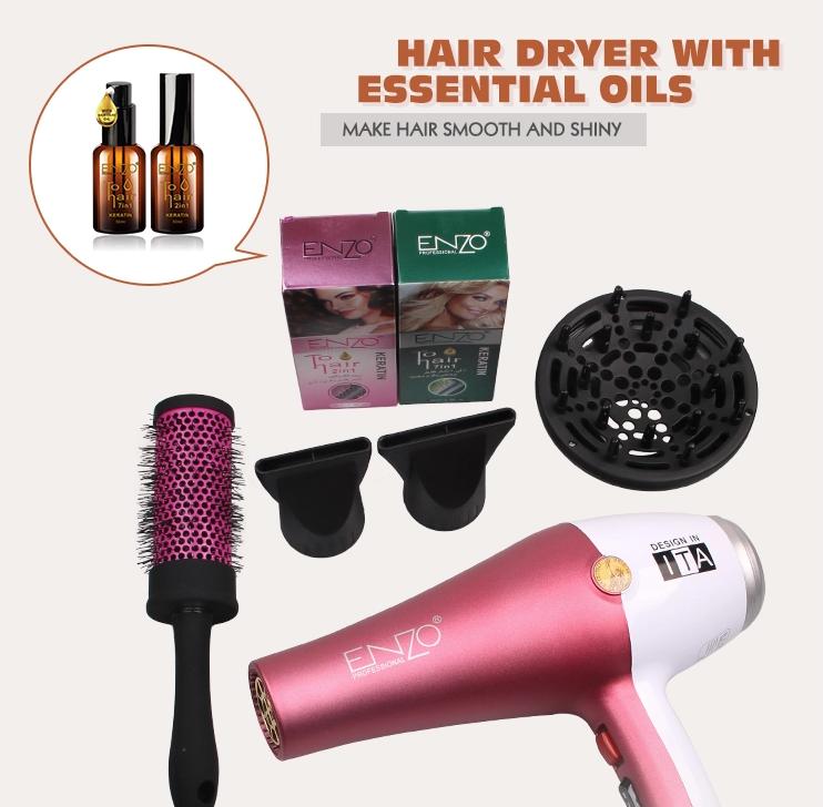 Фен для укладки волос Enzo  EN-6050H с дифузором, фен 7в1,  6000 W, Набор для укладки волос
