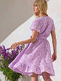Літнє плаття з прошвы з гумкою по талії, фото 4