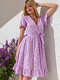 Літнє плаття з прошвы з гумкою по талії, фото 3