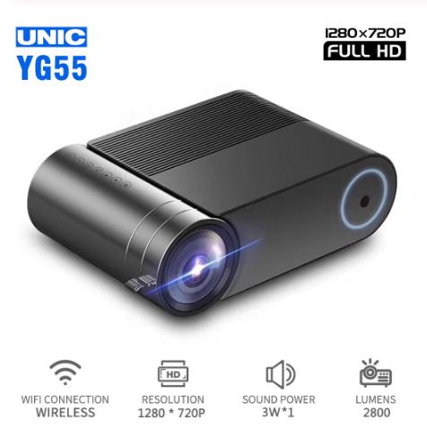 Проектор мультимедійний YG550 Wi-fi Led Progector Портативний домашній кінотеатр міні проектор